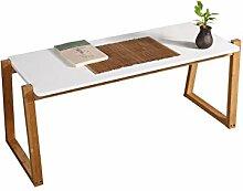 PENGFEI Kaffetisch Regal Bambus Rechteck Kleines Quadrat Tisch Weiß, 2 Größen optional Schön und praktisch ( größe : 106.8*40*42.5cm )