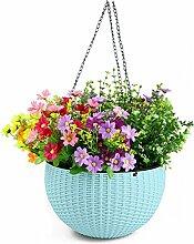 PENGFEI Pflanzen-Topf Kreativer Blumentopf Imitation Rattan Plastik Hängen Topf Automatische Bewässerung Lagerung Blumentopf Blumenbehälter ( Farbe : B , größe : 26.5*16cm )