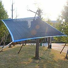 PENGFEI Schattennetz Plane Gewebeplane Pflanze Sonnenschutz Terrasse Carport Endothermisch Balkon Schatten Anti-UV Polyethylen, 2 Farben (Farbe : Schwarz, größe : 2x2m)