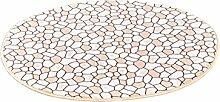 PENGFEI Teppich Zirkularer Teppich Wasserabsorptionsbad Hall Küche Schlafzimmer Wohnzimmer Eingang Rutschfeste Teppichmatten ( Farbe : B , größe : 120cm )