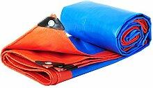 PENGFEI Verdicken Plane Gewebeplane Wasserdicht Draussen Schatten LKW Regen Tuch Staubdicht Pflanzen Sonnenschutz Korrosionsschutz, Blau + Orange, 13 Größe ( Farbe : Blau , größe : 6x10M )