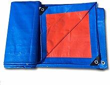 PENGFEI Verdicken Plane Gewebeplane Wasserdicht Regen Tuch Warenhaus Ladung Sonnenschutz Auto Staubdicht Schuppen Stoff Verschleißfest, Blau + Orange, Dicke 0,36 Mm, -180 G / M², 12 Größenoptionen ( größe : 5 x 6m )
