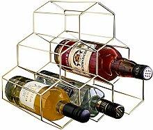 PENGKE Weinregal für 6 Flaschen, freistehend, mit