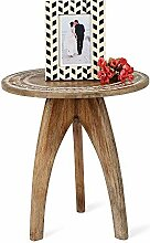 Penguin Home 3318 Coffee Carved Wooden Top &