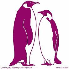 Penguin. Pinguine (55 cm x 68 cm, Farbe: himbeer Badezimmer Childs Schlafzimmer Kinder Zimmer Aufkleber, Vinyl, Fenster und Wand Aufkleber, Wand Windows-Art Wandaufkleber aus Vinyl, Dekoration, ThatVinylPlace Aufkleber
