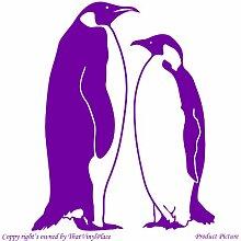 Penguin. Pinguine (55 cm x 68 cm, Farbe Purpple Badezimmer Childs Schlafzimmer Kinder Zimmer, Aufkleber Fenster und Wand, Vinyl Aufkleber, Wand Windows-Art Wandaufkleber aus Vinyl, Dekoration, ThatVinylPlace Aufkleber