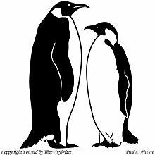 Penguin. Pinguine (55 cm x 68 cm, Farbe schwarz, Badezimmer Childs Schlafzimmer Kinder Zimmer Aufkleber, Vinyl, Fenster und Wand Aufkleber, Wand Windows-Art Wandaufkleber aus Vinyl, Dekoration, ThatVinylPlace Aufkleber