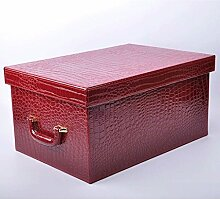 Pengye Leder Extra große Aufbewahrungsbox