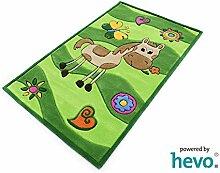 Penny das Pony grün HEVO® Handtuft Teppich | Kinderteppich | Spielteppich 90x150 cm Öko Tex 100