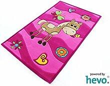 Penny das Pony pink HEVO® Handtuft Teppich | Kinderteppich | Spielteppich 90x150 cm Öko Tex 100