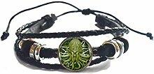 Pentagramm Kraken Cthulhu Armreif Armband Glas