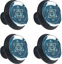 Pentagramm Leuchtkörper Kristallglas Kommode
