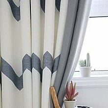 PENVEAT Moderne gestreifte Mosaik-Fenster-Vorhang