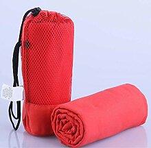 PENVEAT Sporthandtuch mit Tasche, 70 x 130 cm,