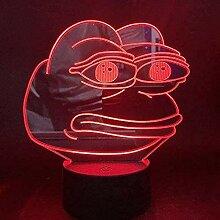 Pepe Nachtlicht 3D Schlaflicht LED Licht Blitz