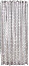 Peppa Grace Vorhang, Baumwolle, Taube/weiß, 245 x