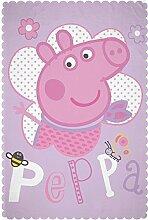 Peppa Pig 'Happy' Fleece-Decke–Design mit großem Druck
