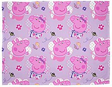 Peppa Pig 'Happy' Fleece Decke – Repeat Print Design