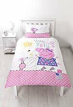 Peppa Pig 'Happy' Single Bettbezug Set–Großer Print Design