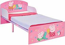 Peppa Pig 505PED Wutz-Bett für Kleinkinder von Worlds Apart,Holz, rosa, Single, 143 x 77 x 42.5 cm