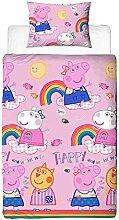 Peppa Pig Friends Bettbezug für Einzelbett rosa