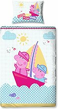 Peppa Pig Nautisches Panel Print Bettbezug-Set,