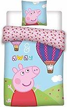 Peppa Pig Wutz Baby Wende Bettwäsche-Set Ballon