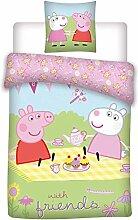 Peppa Pig Wutz Baby Wende Bettwäsche-Set