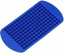Per 160 Tiny Ice Squares Silikon-Eis-Würfel-Hersteller-Eiswürfelformen und Tabletts Küchenhelfer Küchenaccessoires Küchenhelfer für Backzutaten (blau)
