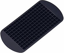 Per 160 Tiny Ice Squares Silikon-Eis-Würfel-Hersteller-Eiswürfelformen und Tabletts Küchenhelfer Küchenaccessoires Küchenhelfer für Backzutaten (schwarz)