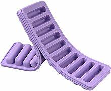 Per New Ten-Streifen-Form-Silikon-Finger-Biskuit-Form-Eis-Süßigkeit-Eiscreme-Schokoladen-Pudding-Würfel-Hersteller Eiswürfelformen und Tabletts Küchenhelfer Küchenaccessoires Küchenhelfer für Backzutaten