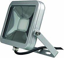 Perel Design LED-strahler, 20 W, 24,5 x 8 x 19,5 cm, silber, LEDA4002NW-SG