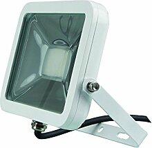 Perel Design LED-strahler, 20 W, 24,5 x 8 x 19,5 cm, weiß, LEDA4002WW-W