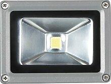 Perel LED-strahler für den außenbereich, 10 W epistar chip, 3000 K, 12 x 9 x 10 cm, grau, LEDA3001WW-G