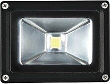 Perel LED-strahler für den außenbereich, 10 W epistar chip, 6500 K, 12 x 9 x 10 cm, schwarz, LEDA3001CW-B