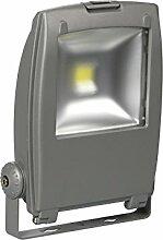 Perel Professioneller LED-fluter für den außenbereich, 30 W epistar chip, 6500 K, 27,5 x 34 x 12 cm, grau, LEDA310
