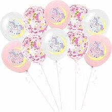 perfeclan 10pcs Einhorn Latex Ballon Luftballon