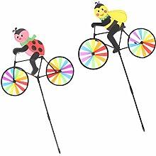 perfeclan 2pcs Windspiel Fahrrad Metallwindrad