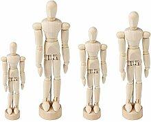 perfeclan 4 Stü Holz Familie Menschen Figuren