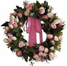 perfeclan Künstliche Blumen Kranz für Haus Büro