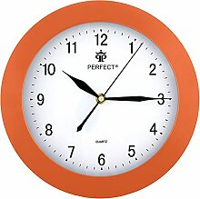 Perfect Moderne Wanduhr Orange geräuschlos