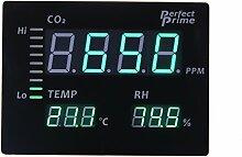 Perfect-Prime CO2008 Kohlendioxid CO2 Temperatur Feuchtigkeitsmesser Groser LED-Bildschirm