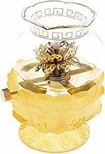 perfk Buddhistische Glas Öllampe mit Docht