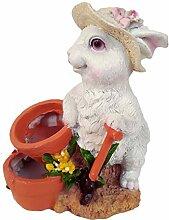 perfk Karikatur Kaninchen Geformte Saftige Pflanze