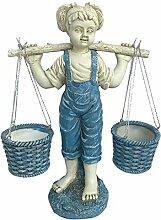 perfk Kleine Mädchen Garten Statue Pflanzer