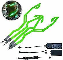 Perfuw Motorradhelm-Lichter-Kit, Helm-Aufkleber,