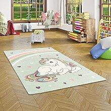 Pergamon Kinder Teppich Maui Kids Einhorn Pastell