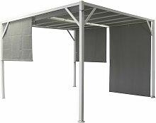 Pergola-Pavillon 4x3 m aus lackiertem Metall mit