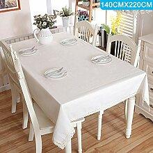 PerGrate Minimalistische Tischdecke Spitze Kanten