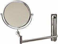 Perigot SBME001 Kosmetikspiegel, ausziehbar, Chrommetall
